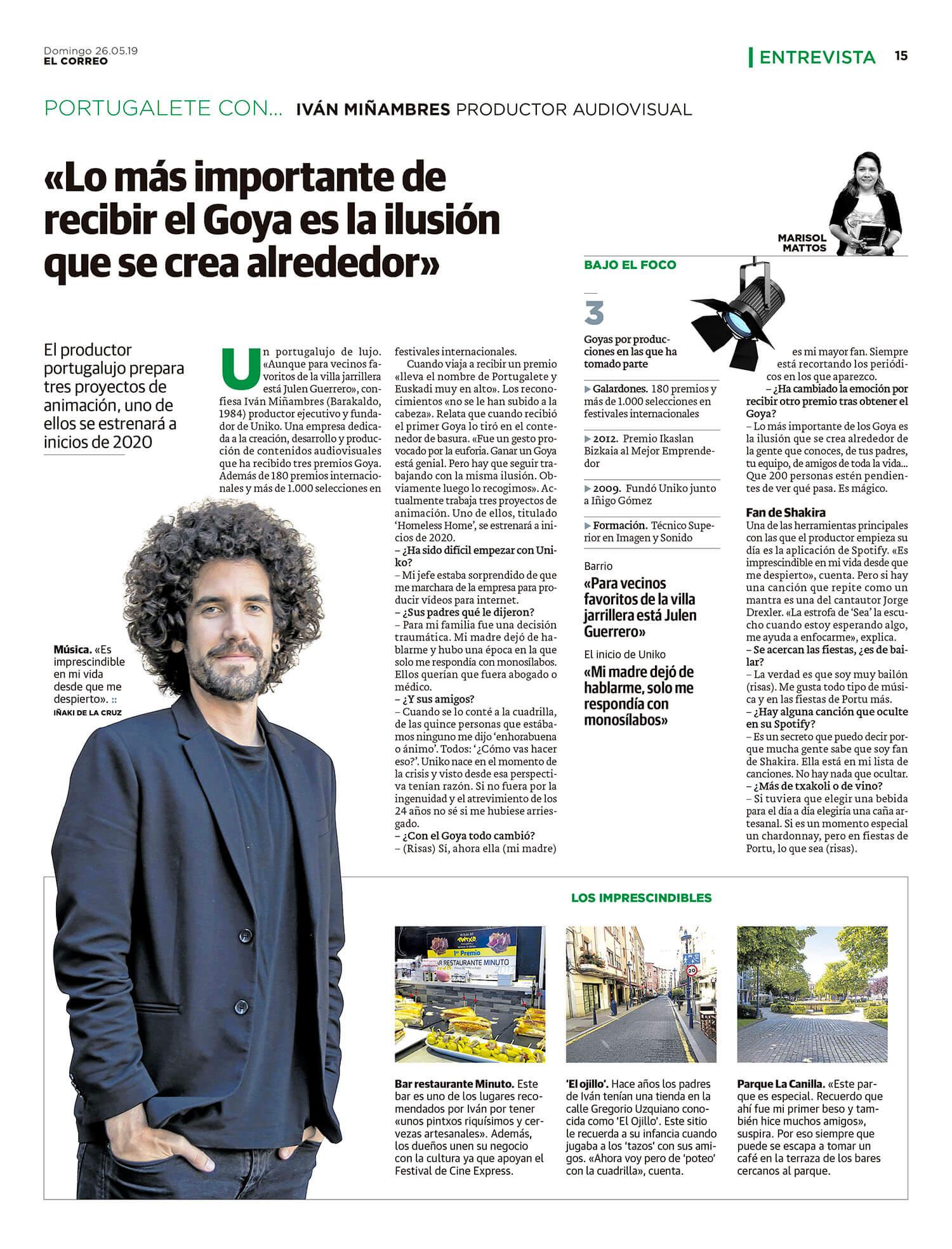 Entrevista Iván Miñambres